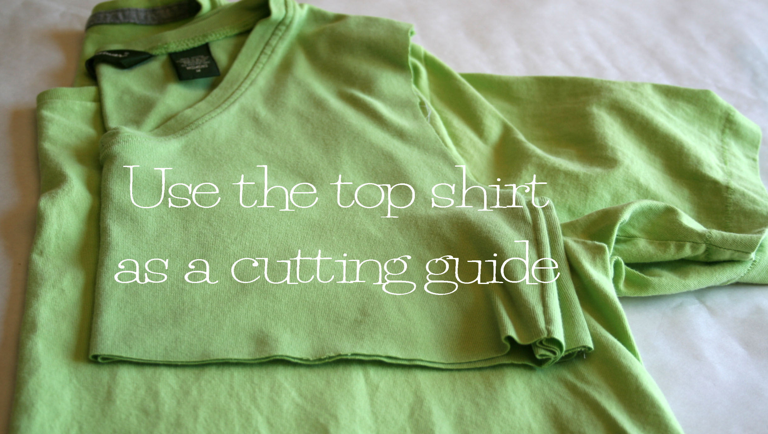 diy shirt cutting tutorial