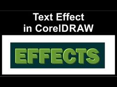 coreldraw 3d effect tutorial