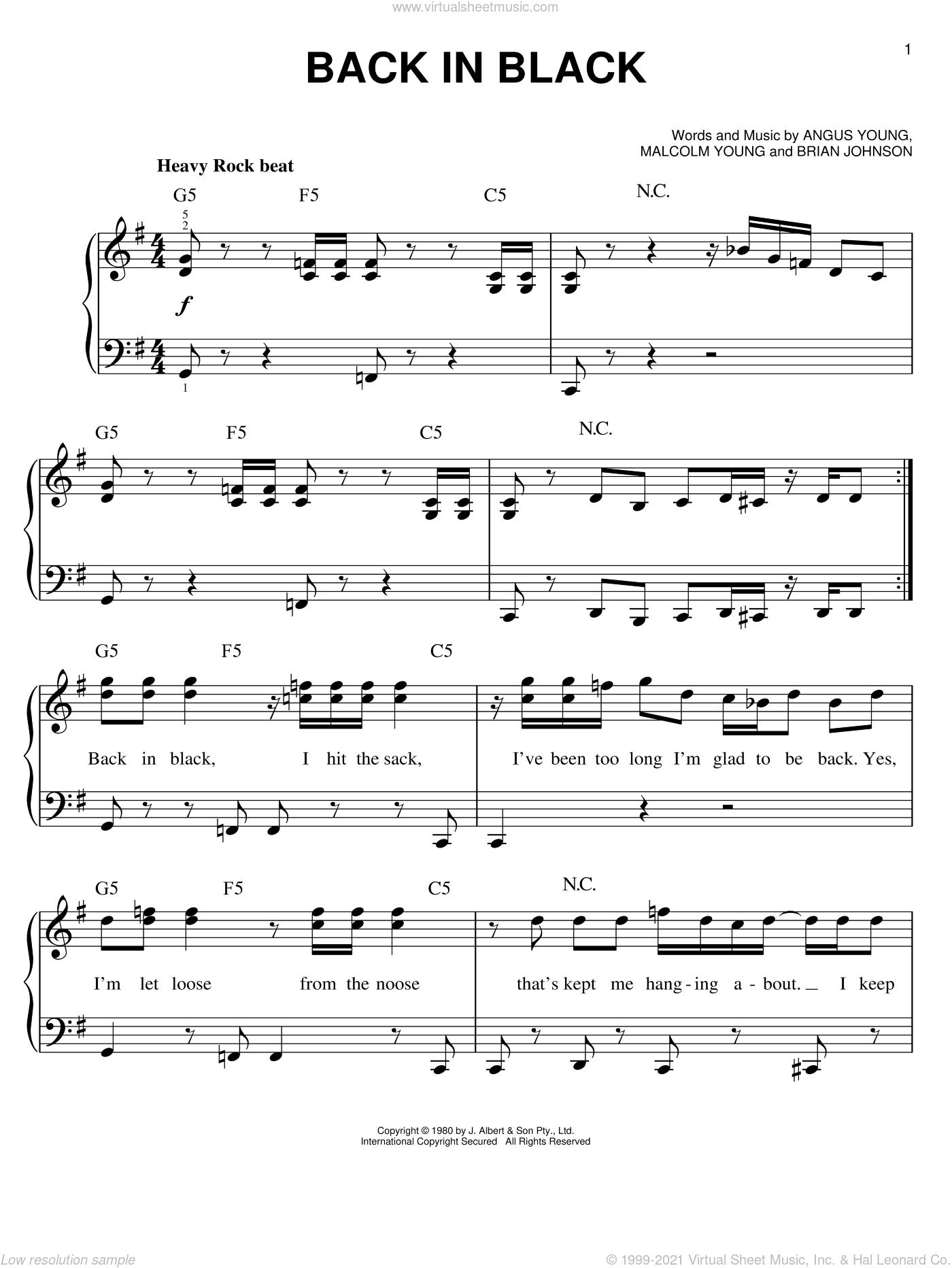 back to black piano tutorial