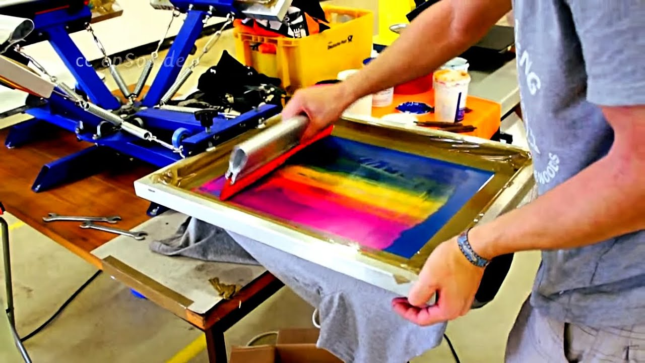 4 color process screen printing tutorial
