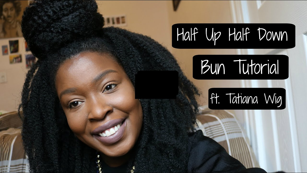 half up half down bun tutorial