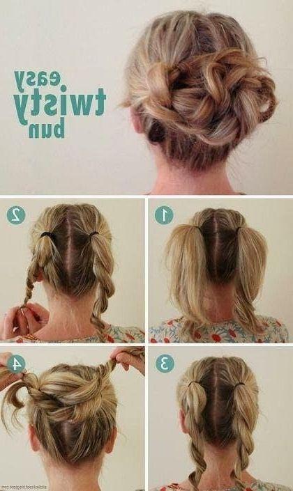 easy updo short hair tutorial