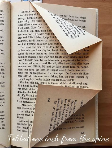 folded book art tutorial