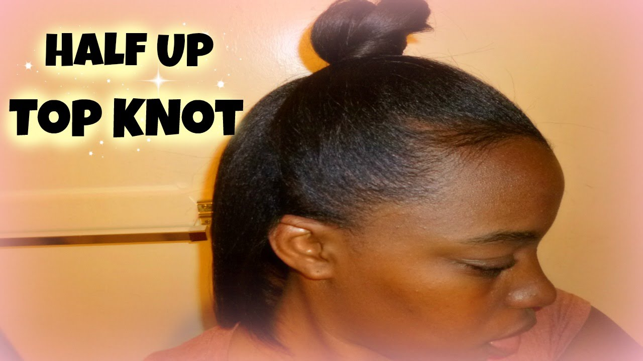 half up top knot tutorial