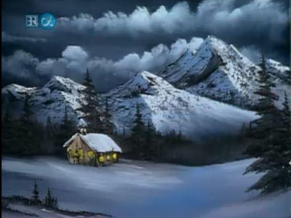 bob ross acrylic painting tutorial