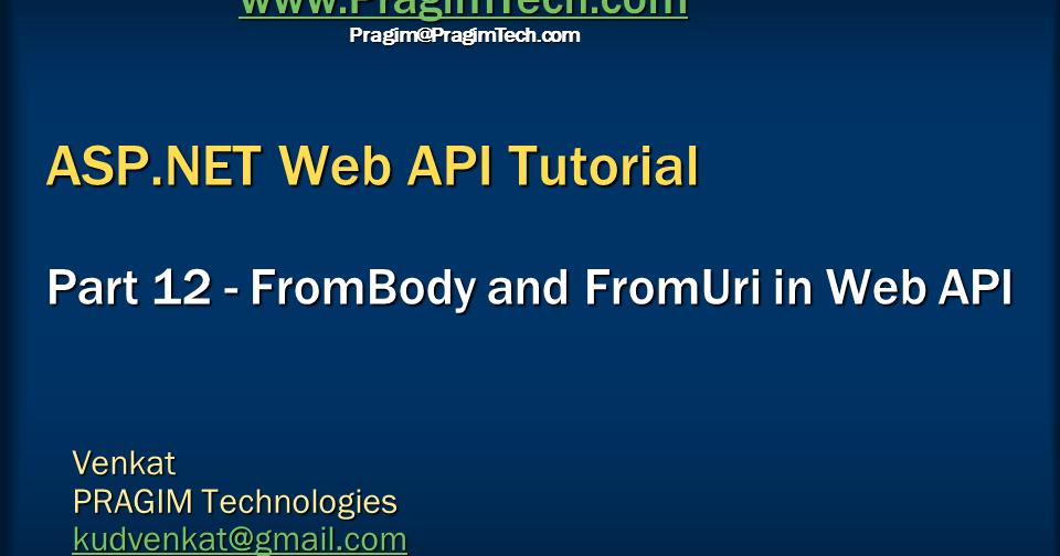 asp net web api tutorial for beginners