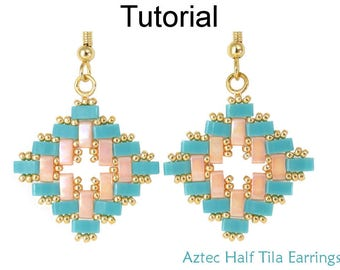 half tila herringbone tutorial