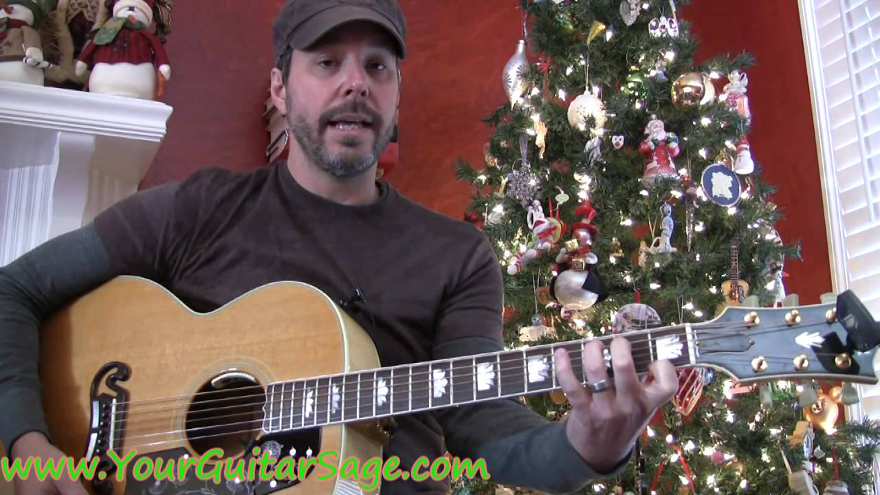 santa claus is coming to town guitar tutorial