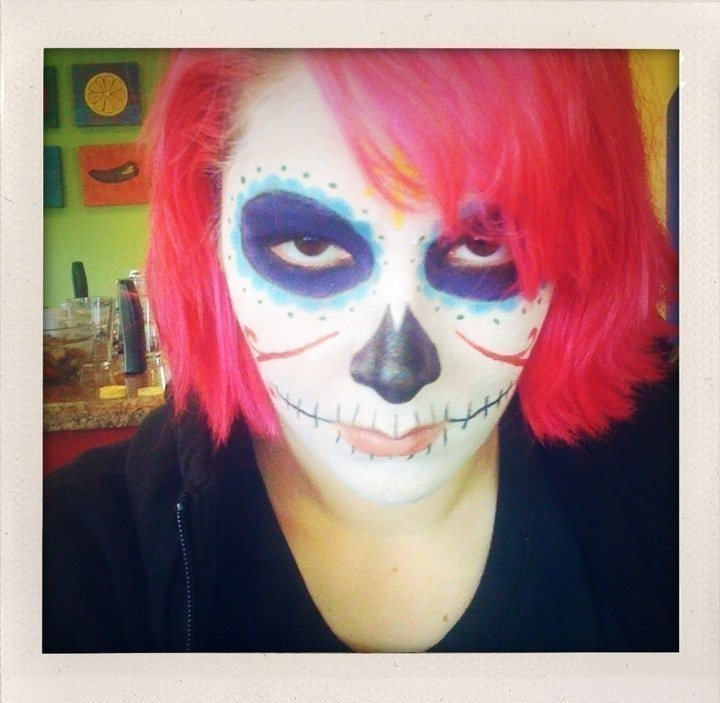 candy skull face paint tutorial