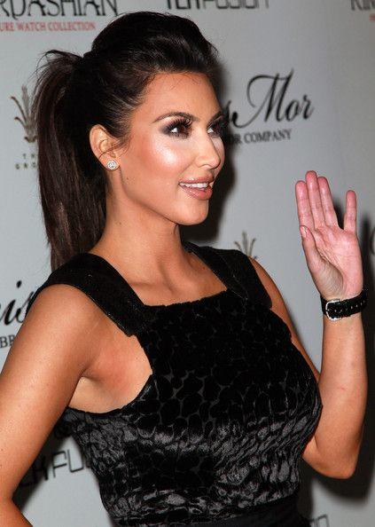kim kardashian sleek hair tutorial