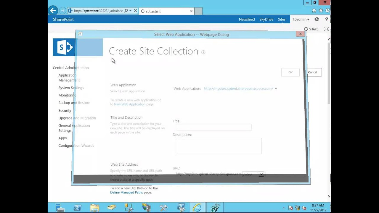 creating sharepoint site tutorial