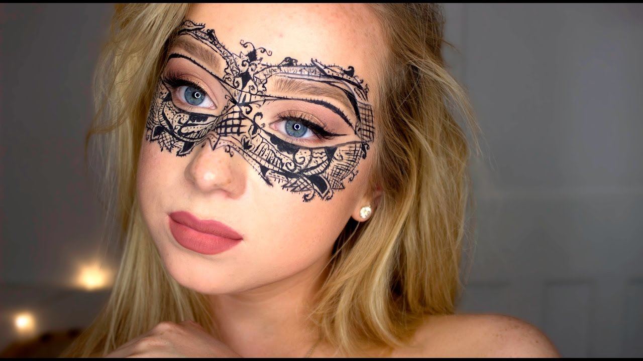 lace masquerade mask tutorial