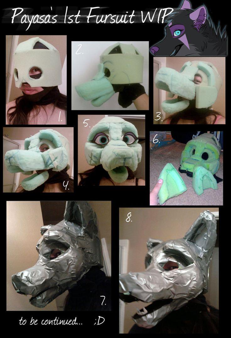 wolf fursuit head tutorial