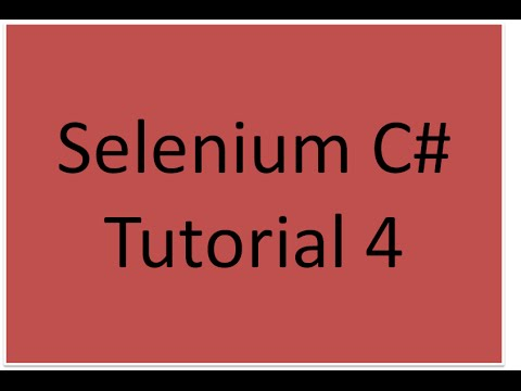 c# automation testing tutorial