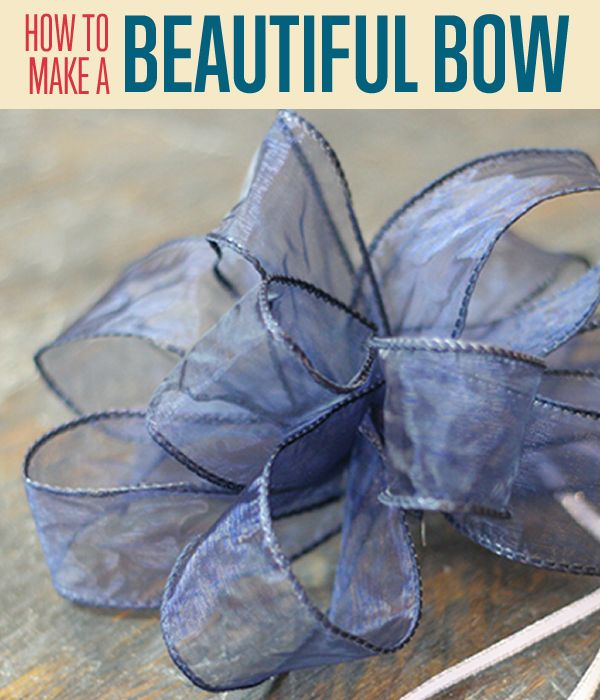 large wire ribbon bow tutorial
