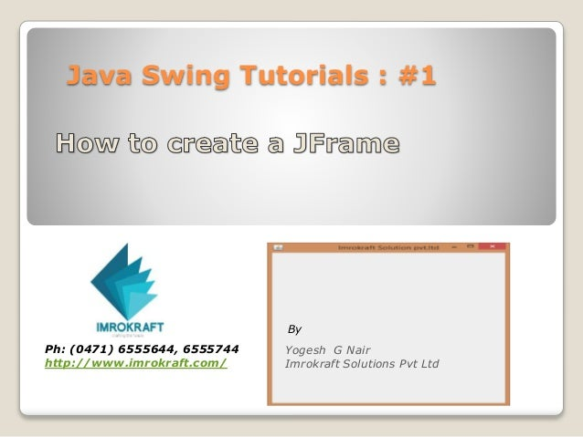 swing tutorial in java with examples
