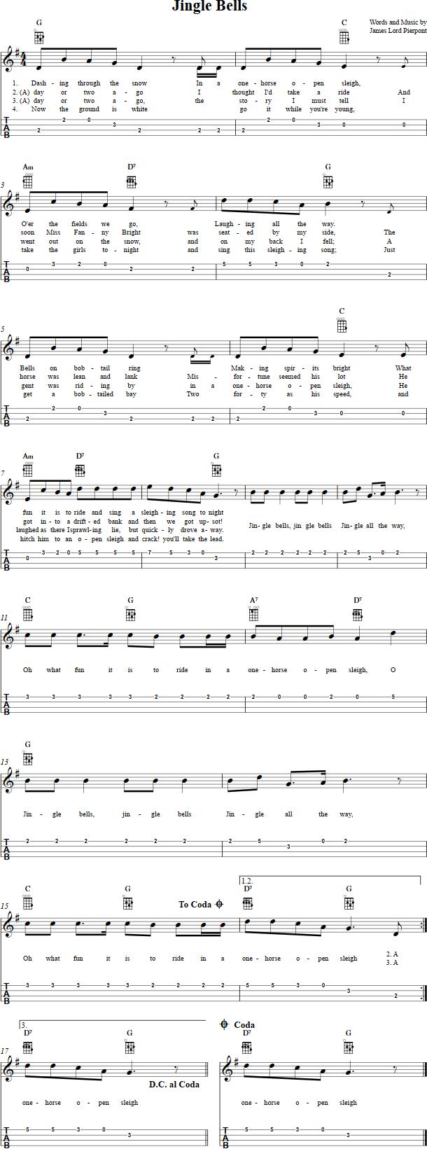 jingle bells guitar tutorial