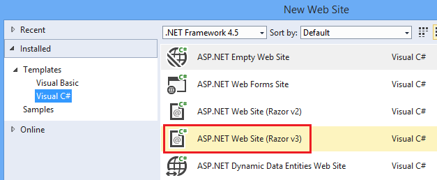 asp net web forms tutorial visual studio 2015