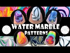 water marble nail art tutorial for beginners