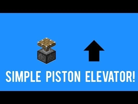minecraft simple elevator tutorial