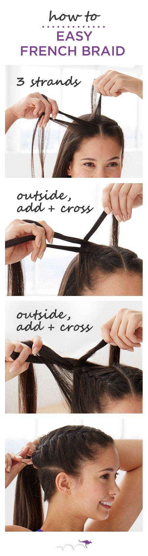 french braid tutorial for beginners