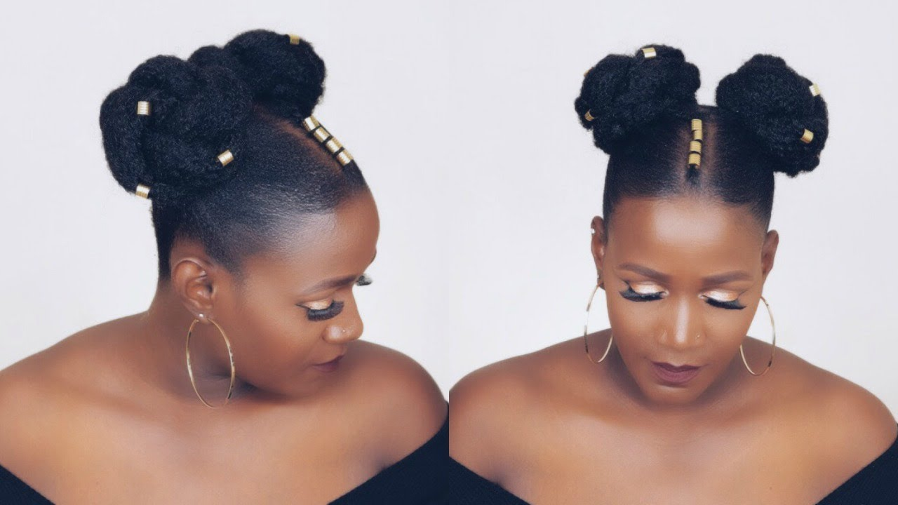 space buns tutorial short hair