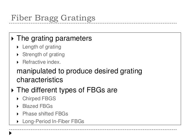 fiber bragg grating tutorial