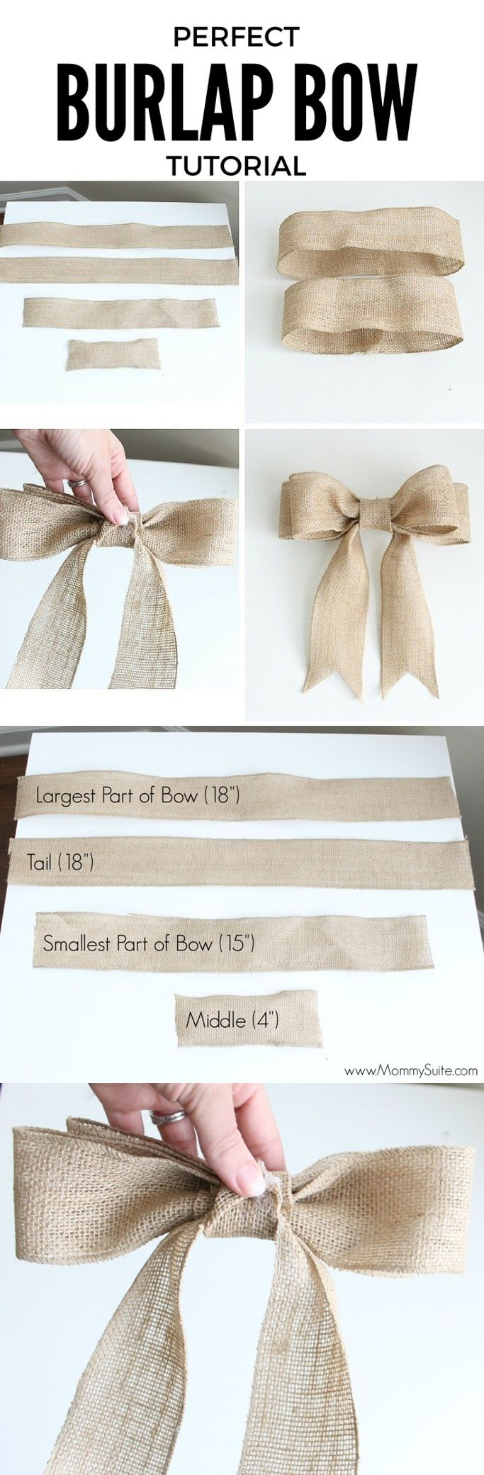 how to make a burlap bow tutorial