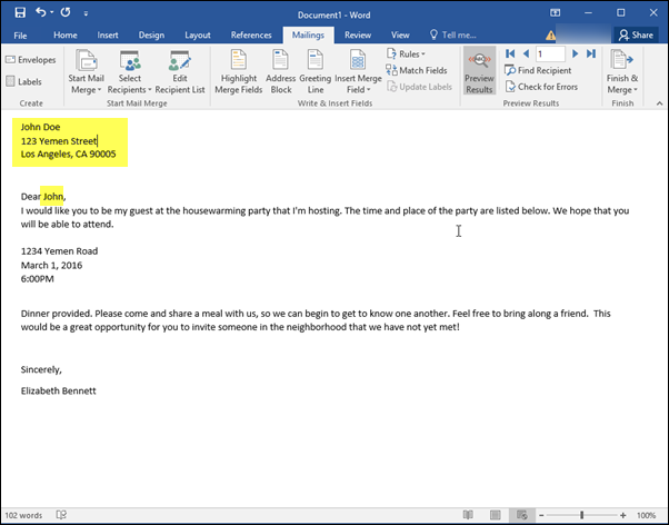 mail merge tutorial word 2016
