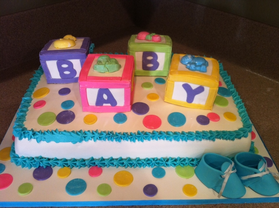 baby block cake tutorial