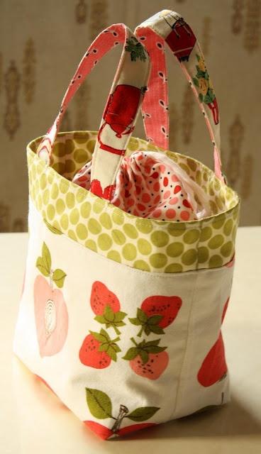 fabric lunch bag tutorial