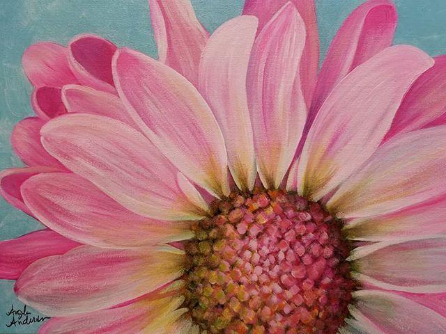 daisy acrylic painting tutorial