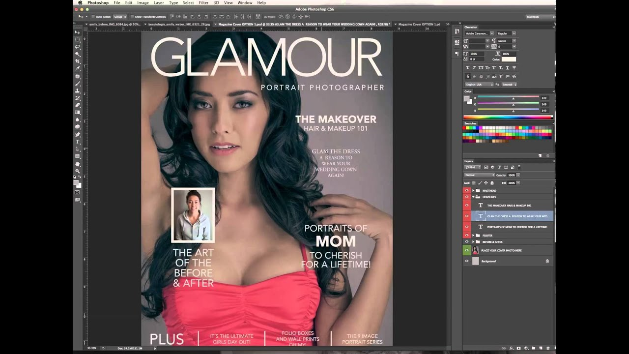 photoshop magazine cover tutorial