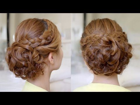 long curly hair updo tutorial