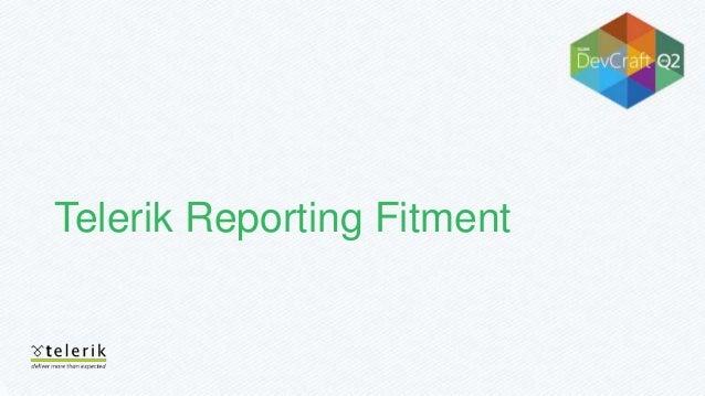 telerik reporting tutorial video