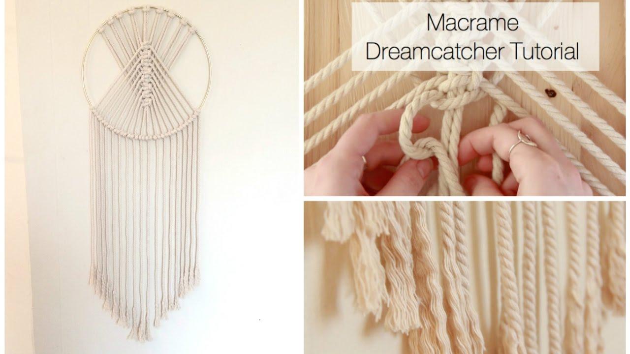 macrame tree of life dreamcatcher tutorial