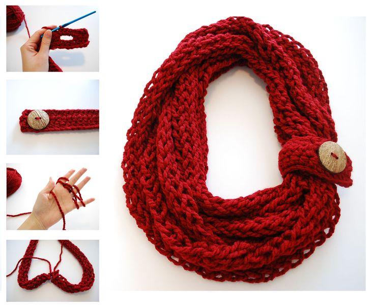 crochet infinity scarf pattern tutorial