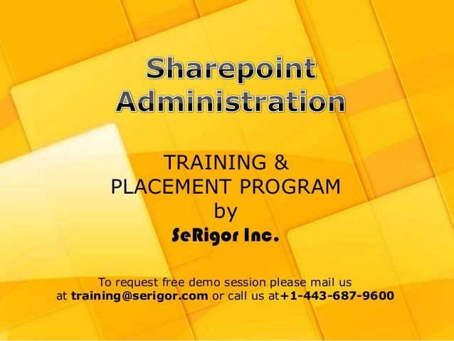 sharepoint administration tutorial for beginners