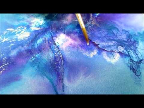acrylic fluid painting tutorial