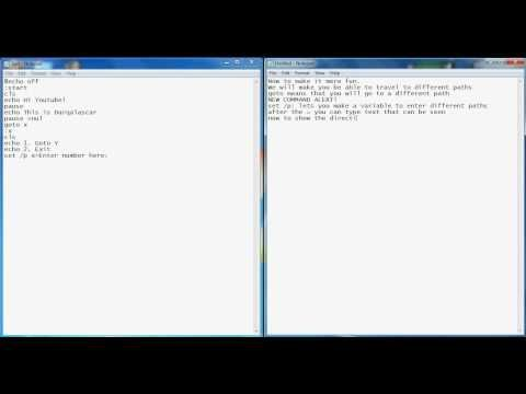 windows 7 batch file tutorial