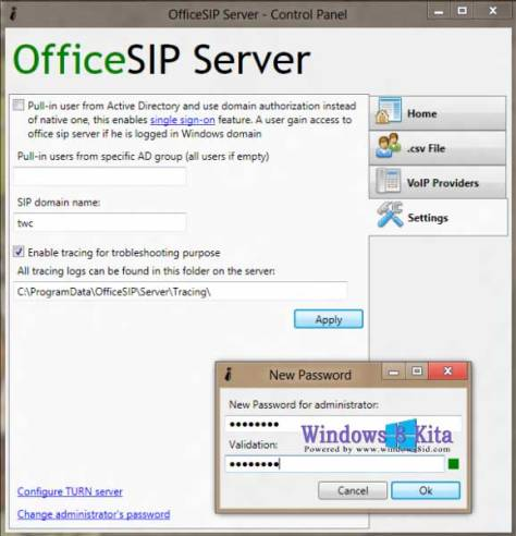 office sip server tutorial