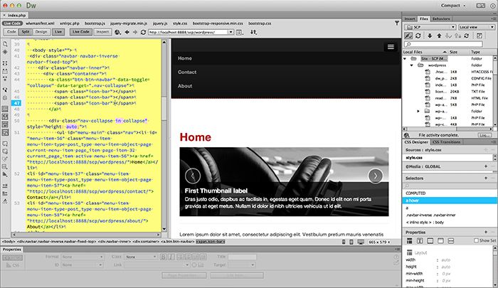 dreamweaver web design tutorial