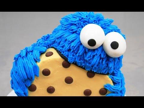cookie monster cake tutorial