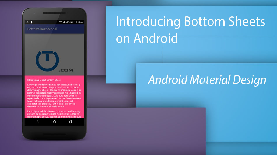 android bottom sheet tutorial