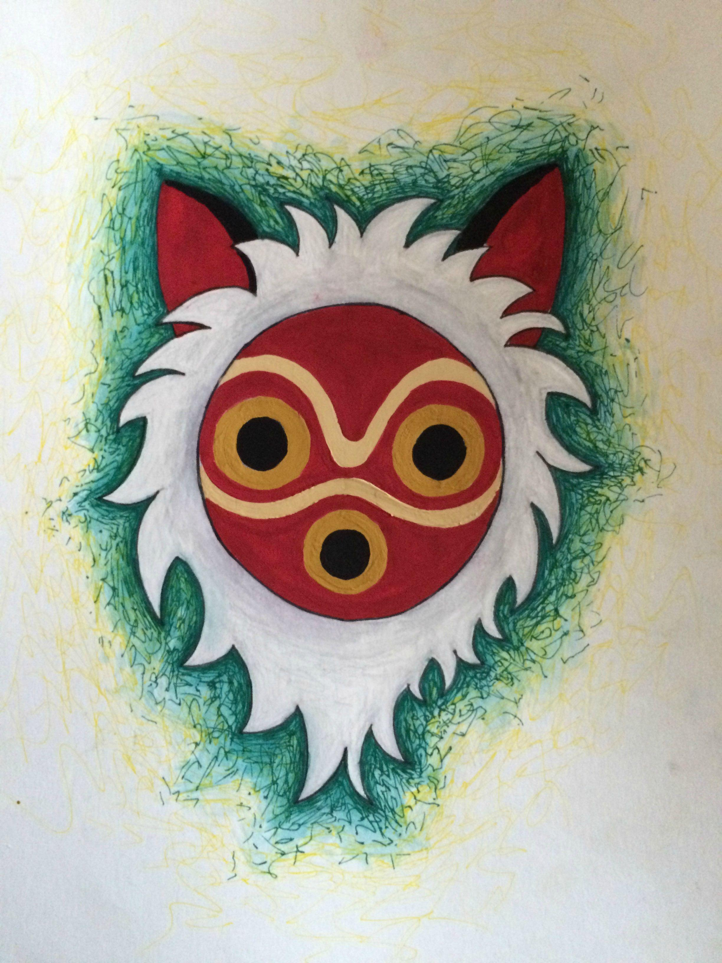 princess mononoke mask tutorial