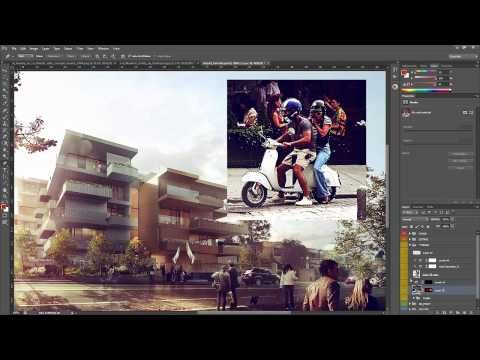 post production photoshop architecture tutorial
