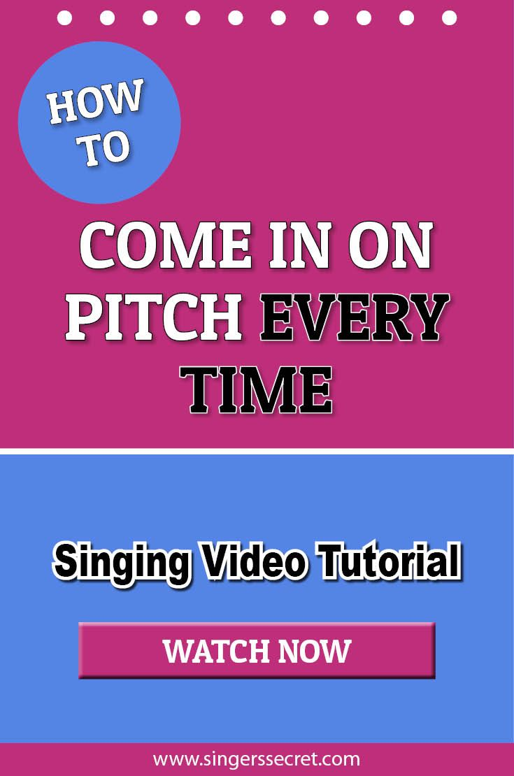 how to sing tutorial