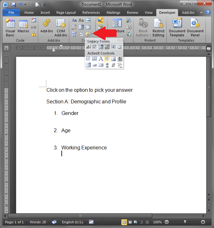 microsoft word developer tutorial