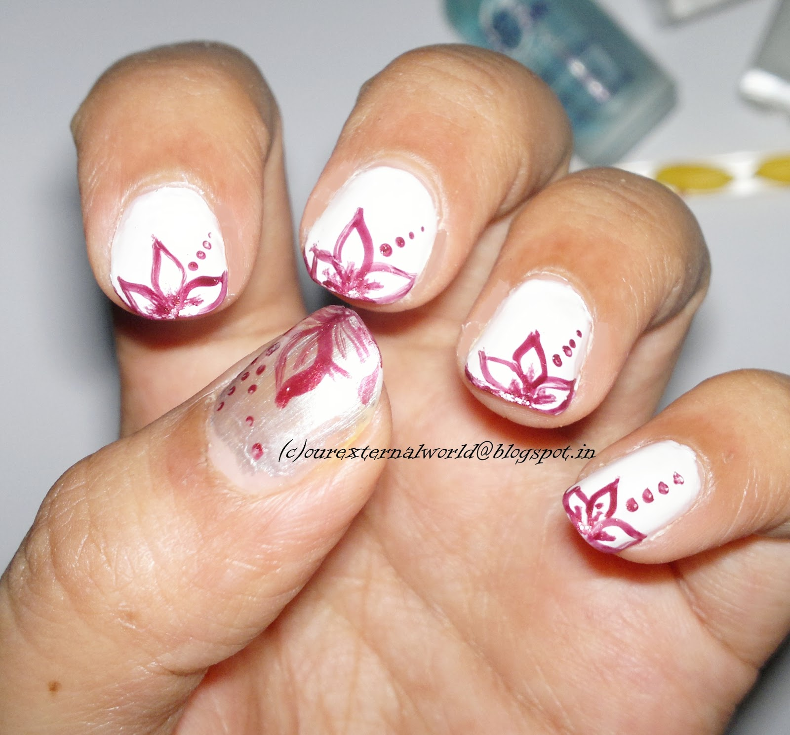 dried flower nail art tutorial