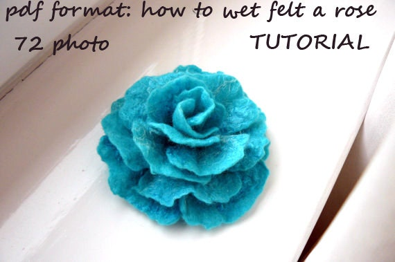 felted wool flowers tutorial